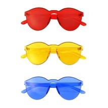 Paquete De Gafas Sol En Un Atados 3 Pares Rojo Hombre Mujer EE01 - $22.54