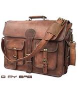 New best Men Real Vintage Brown Leather computer Messenger Shoulder Lapt... - $64.79+