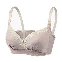 Soft Cotton Nursing Bras Pregnant Underwear Asian XL Maternity Bras Skin Color