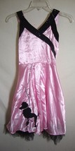 Poodle Skirt Costume 50s Dress Child Circle Chic Sock Hop Grease Pink Me... - $29.69