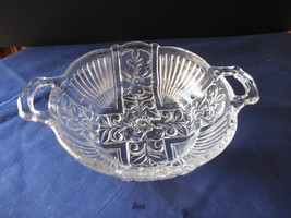 "Indiana Glass Killaney Clear Handled BonBon Candy Dish  5 1/4""   - $9.99"