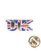 UK uk flag design worded Lapel Pin Badge / tie pin. in gift box enamel finished