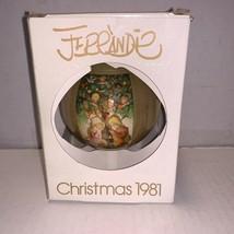 Schmid Glass Ball Ornament Christmas 1981 - $5.00