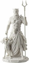 "Statue Hades Greek God of the Underworld With Cerberus 10.5"" High Made o... - $103.50"