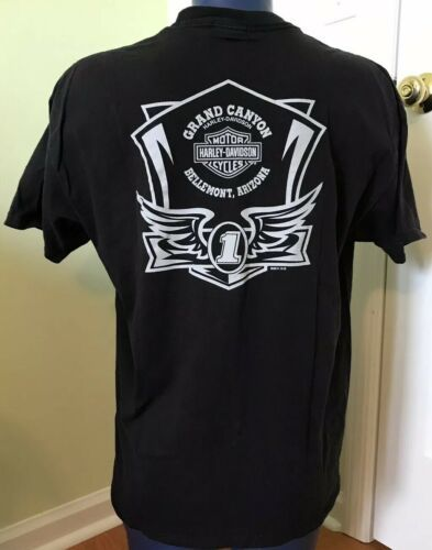 Harley Davidson Tee T Shirt Grand Canyon Bellemont Arizona XL Black No Cages