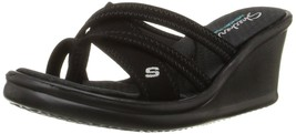 Skechers Cali Women's Rumblers-Young At Heart Wedge Sandal, Black - $67.50