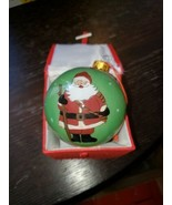 "Lot Of 12 ""LI BIEN"" 3 Santa Scenes Reverse Inside Painting Glass Ornaments - $173.25"