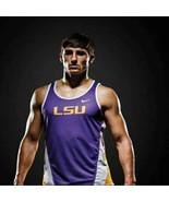 LSU Tigers Track Nike Team Singlet Mens Size Large Purple Yellow White - $40.50