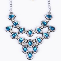 new arrived handmade crystal  romantic style collier necklace & water drop  Colo - $17.85