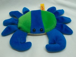 "Traub BLUE & GREEN CRABBY CRAB 8"" Bean Bag Stuffed Animal Toy - $14.85"