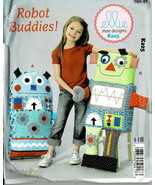 McCalls Pattern K225 2 Soft Toy Robot Buddies For Children By Ellie Mae ... - $6.93