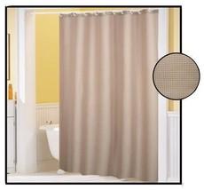 Shower Curtain Waffle Weave Linen Beige 70 x 72 Bath Decor - $20.89