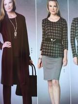 Butterick Sewing Pattern 6258 Misses Cardigan Skirt Dress Pants Size 16-... - $19.01