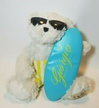 "Giorgio Beverly Hills Bear 10"" Plush 2008 Sunglasses Surfboard Swim Trunks - $25.69"
