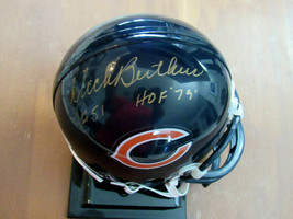 MIKE BUTKUS # 51 HOF 79 CHICAGO BEARS SIGNED AUTO RIDDELL MINI HELMET JS... - $148.49