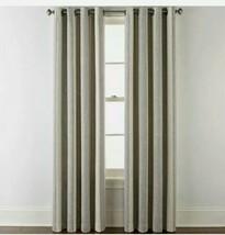 (1) NEW JCPENNEY Sullivan Stripe Oxide Gray Blackout Grommet Curtain 50 ... - $56.09