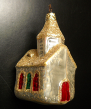 Merck Old World Christmas Ornament Church Stain Glass Windows Star Cap B... - $11.99
