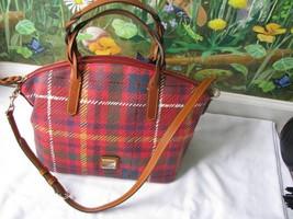 Dooney & Bourke Red with Tan Handle Satchel Handbag New - $251.52