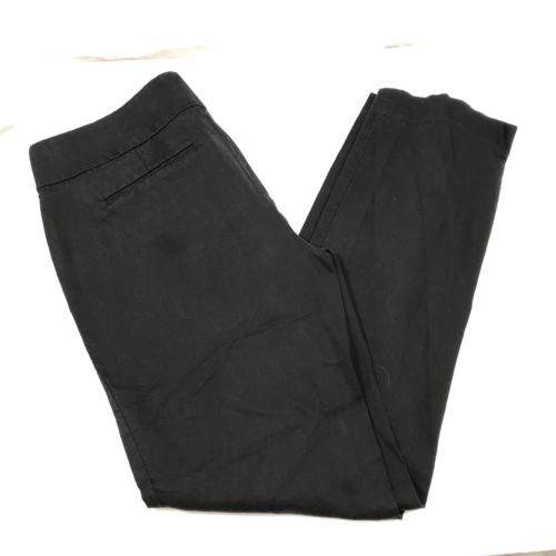 Ann Taylor Loft Black Marisa Trousers Dress Pants 8