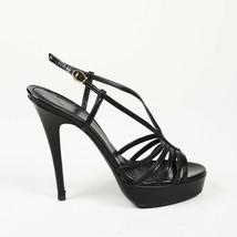 Yves Saint Laurent Strappy Patent Leather Platform Sandals SZ 38 - $160.00