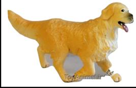 GOLDEN RETRIEVER DOG FIGURINE PET PAPO TOY ANIMAL NEW - $5.25