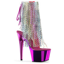 "Sexy Stripper Dancer Clubwear 7"" High Heel Platform Ankle Boots w/ Rhinestone - $103.95"