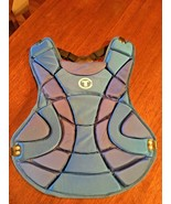BASEBALL CATCHER'S chest protector TBP515 (TAG) Bright Blue EUC   - $16.77