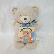 Demdaco Teddy Bear Puppet With Storybuck Plush Lovey Stuffed Baby Toy  T... - $14.97