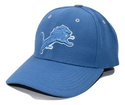 Detroit Lions NFL Team Apparel  Blue Adjustable Football Cap Hat - $17.09