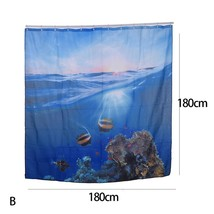 Polyester Mildew Waterproof Bath Curtain 3D Underwater world Seascape Di... - $27.73