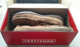 CRAFTSMAN Mens Leather memory foam Moccasin Slippers Anti-Slip Tan Size 11M - $34.99