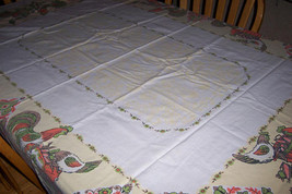 Vintage rooster country tablecloth - $25.00