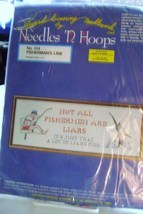 """Needles 'N Hoops Cross- Stitch """"Not All Fishermen Are Liars"""" - $12.00"""