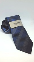 NEW Reaction Kenneth Cole Men's Classic Neck Tie  Multi Tonal Check Blue... - $18.99