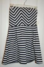 NWT Forever 21 Medium Cream and Navy Striped Strapless Dress - $14.84