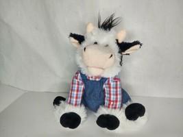 "12"" Cuddle Barn Farmer Mac Cow Plush Sings Old MacDonald Animated Toy Fa... - $34.63"
