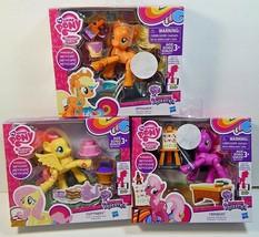 My Little Pony Poseable Lot Of 3 Fluttershy Applejack Cheerilee & Access... - $44.99