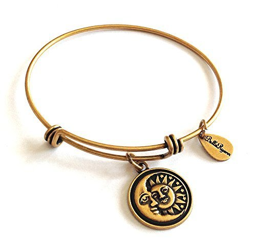 Bella Ryann Sun Moon & Stars Gold Charm Bangle Bracelet