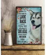 Classic Blue Alaskan Malamute Right Beside You, Art Print Poster For Hom... - $25.59+