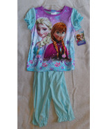 Disney Frozen Anna & Elsa 2-Piece Girls Pajamas... - $14.85