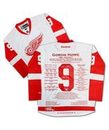 Gordie Howe Elite Edition Career Jersey - Signed Ltd 9/9 - Detroit Red W... - $5,900.00