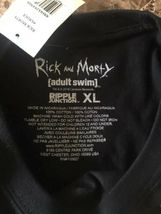 NEW Rick and Morty Black T Shirt Hashtag Sauce Men's Size XL Adult Swim image 3