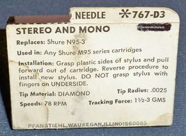 767-D3 78 RPM NEEDLE TURNTABLE STYLUS for SHURE N-95-3 M95 M-95ED image 3