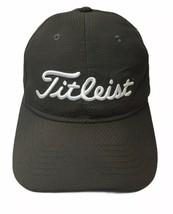 TITLEIST GOLF HAT Adult Adjustable Cap Grey White Logo Polyester - $17.19
