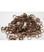 240 Antique copper plated 6 and 8mm split rings, clasps fpc102 - $1.50