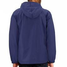 Men's Water Resistant Windbreaker Hooded Half Zip Pullover Rain Jacket image 12