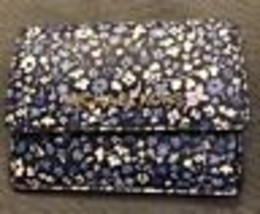 3746e6067bc4 NWT Michael Kors Jet Set Travel Card Case ID Key Holder Leather NAVY FLORAL  $118 added to cart. Only one available in stock