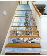 3D Snowflakes River KE9229 Stair Risers Decoration Mural Vinyl Wallpaper... - $53.79+