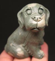49mm 2.3OZ Natural Snowflakes Jasper Crystal Carving Art Dog - $56.09