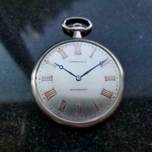 Tiffany & Co. Rare Platine 14736 Poche Montre 45mm, C.1930s Suisse de Luxe LV980 - $6,831.13
